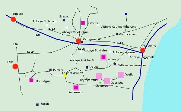 Pays cathare patrimoine et châteaux cathares
