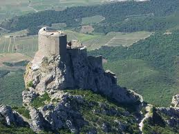 Pays cathare chateau Queribus