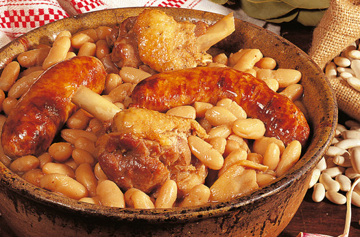 ... and garlic sausage cassoulet chorizo and gigante bean cassoulet