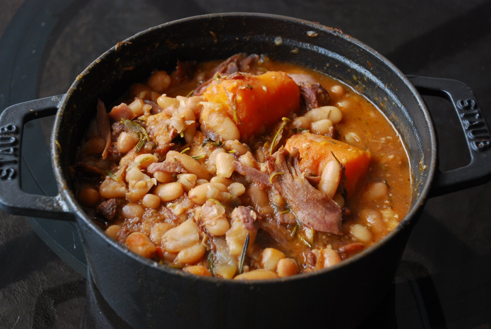 chorizo and gigante bean cassoulet white bean and lamb cassoulet with ...