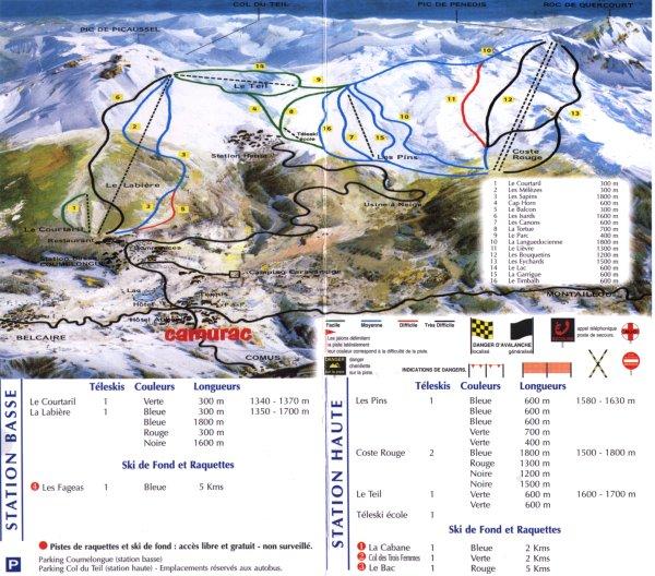 camping pyrénées ski