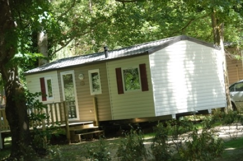 Location de mobil home au camping le Moulin du Pont d'Aliès