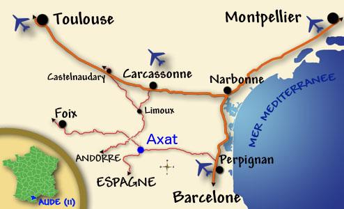Carte Aude France