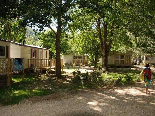 Location dans le camping dans l'Aude