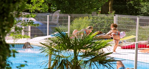 Piscine chauffée camping Aude