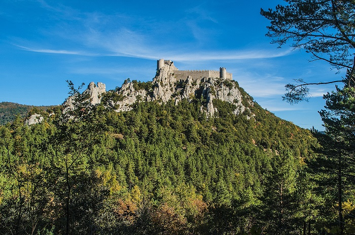 Château sur la route du sentier cathare