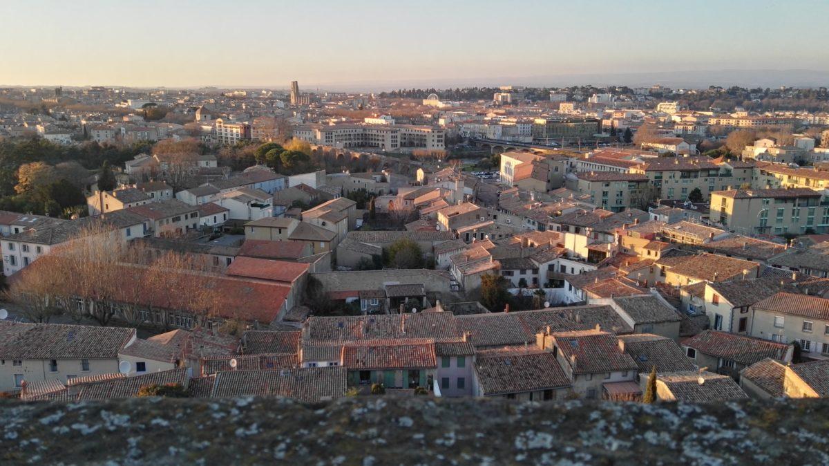 Vue depuis la cité de Carcassonne
