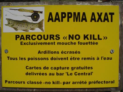 pêche no kill proche du camping dans l'Aude