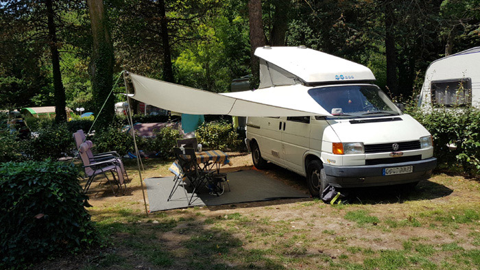 Camping avec emplacement pour camping-car dans l'Aude